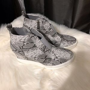 Shoes - Zoey Wedge Sneaker Vegan Leather Snake Print